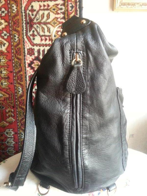 Женская кожаная сумка-рюкзак Maxx New York - Фото 5