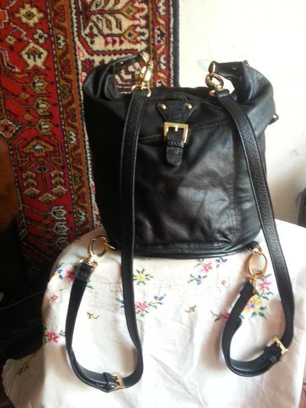 Женская кожаная сумка-рюкзак Maxx New York - Фото 8