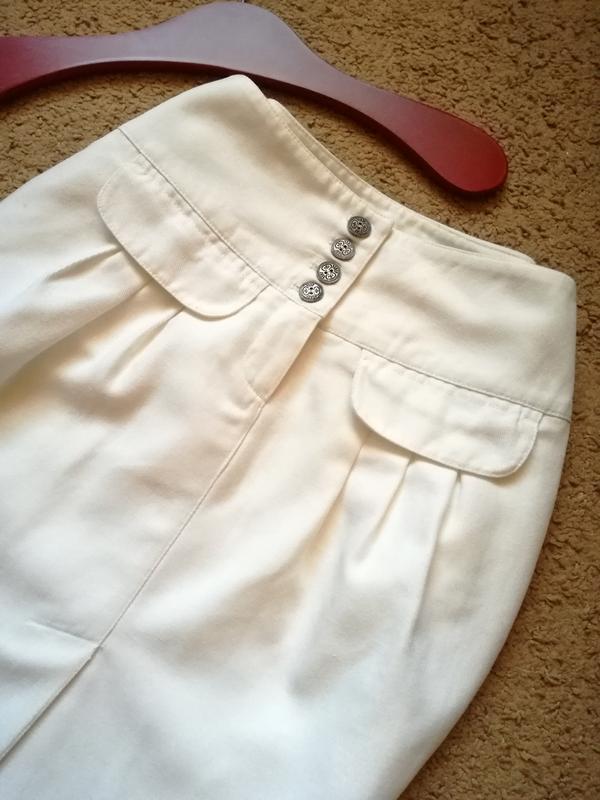 Белая льняная юбка тюльпан р 34 marc o'polo