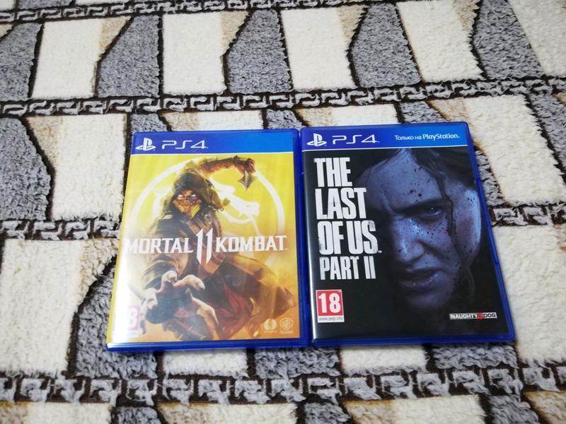 Диски PS4 - MK11 Mortal Kombat 11 - The Last of us 2
