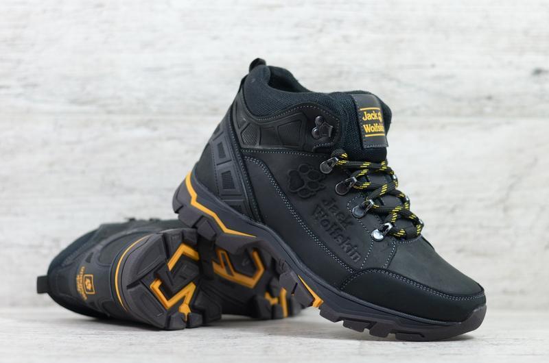 Натуральная кожа мужские зимние кожаные ботинки на шнурках - Фото 7