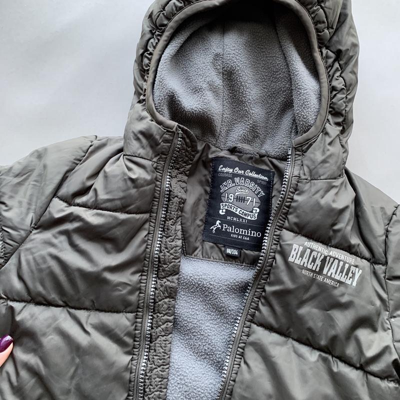 Серая сосенняя детская курточка на мальчика 98-104 4-5 лет