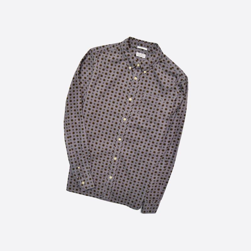Allsaints m / мужская вельветовая рубашка в принт, хлопок