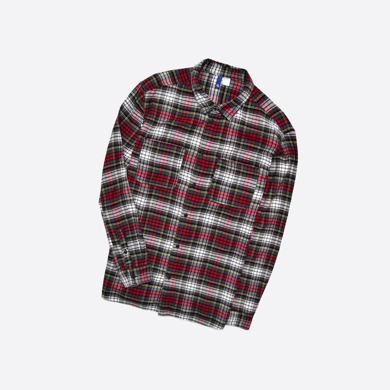 Divided h&m xl / мужская мягкая фланелевая рубашка в крупную к...