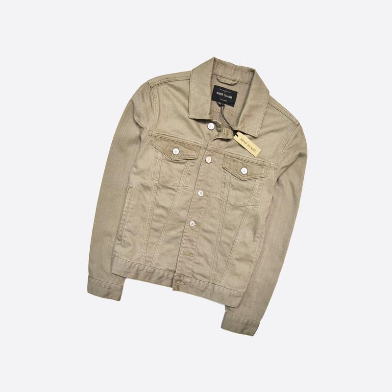 River island s / новая джинсовка, джинсовая куртка в бежевом ц...