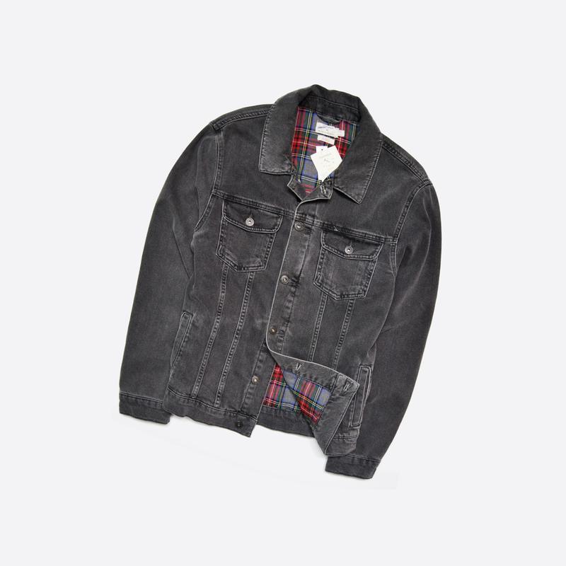 Topman xl / плотная новая джинсовая куртка с бирками, тёмно-се...