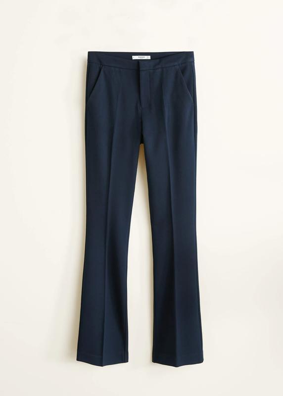 Новые брюки клеш  mango с высокой посадкой и стрелками