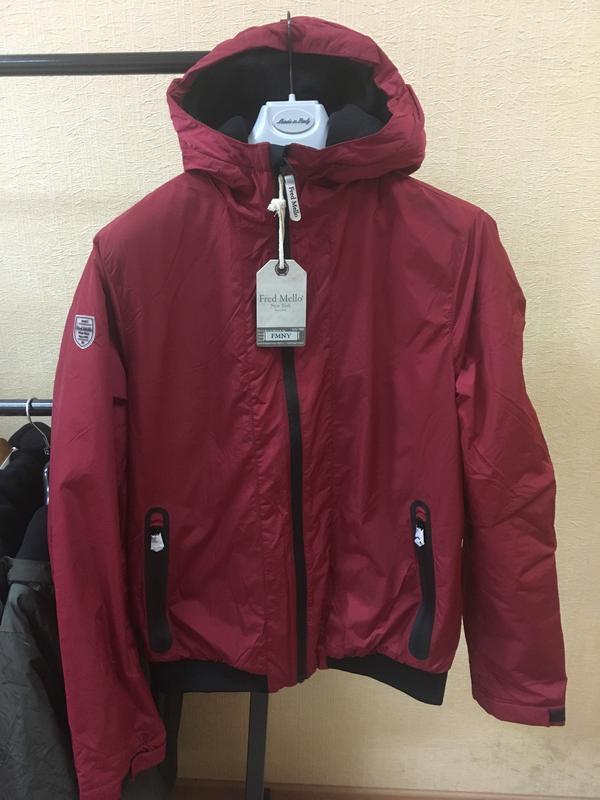 Куртка fred mello оригинал осень на флисе