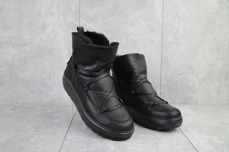 Ботинки женские benz черные (натуральная кожа, зима)
