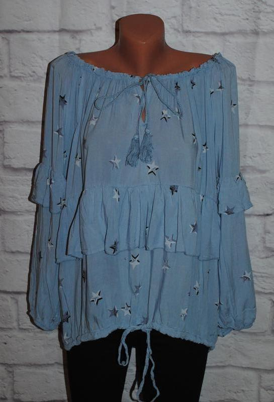 Блуза с объемными рукавами (италия)