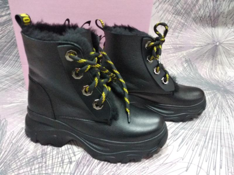 Зимние ботинки на платформе marcco новинка