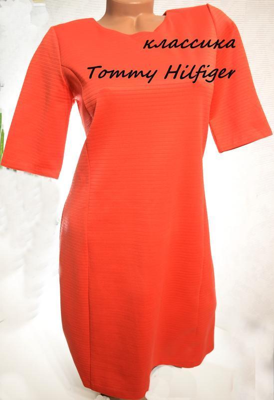 Платье  tommy hilfiger классика, цвет корала, летние вещи в бо...