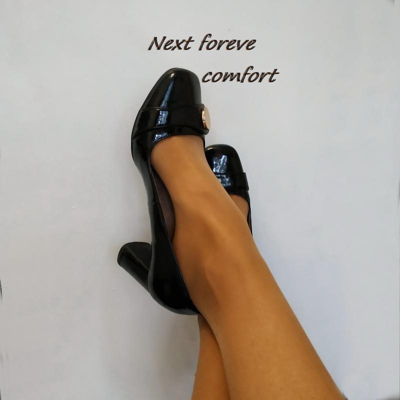 Туфли next forever comfort, лаковая кожа, брендовая обувь в ра...