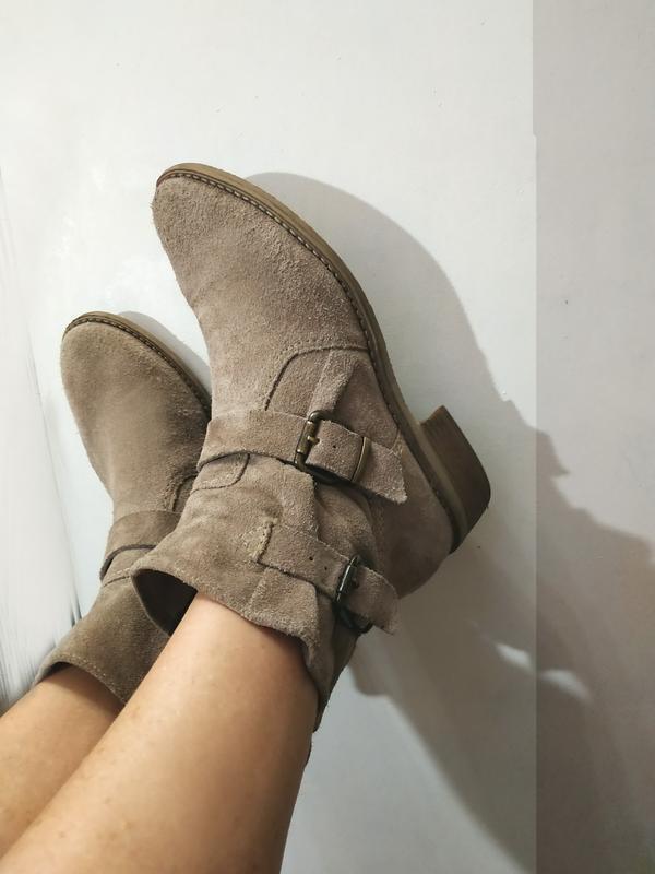 Ботинки замшевые, мягкие очень, германия, много осенней обуви!