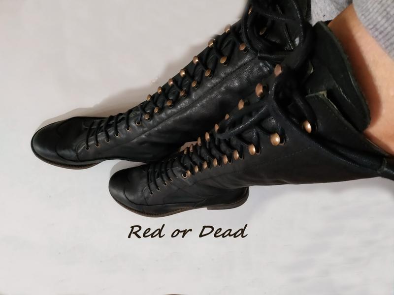Сапоги стильные red or dead, на объемную ступню, осенняя бренд...