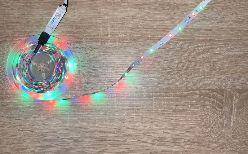 Светодиоидная RGB лента 2.5м управление пульт - Фото 2