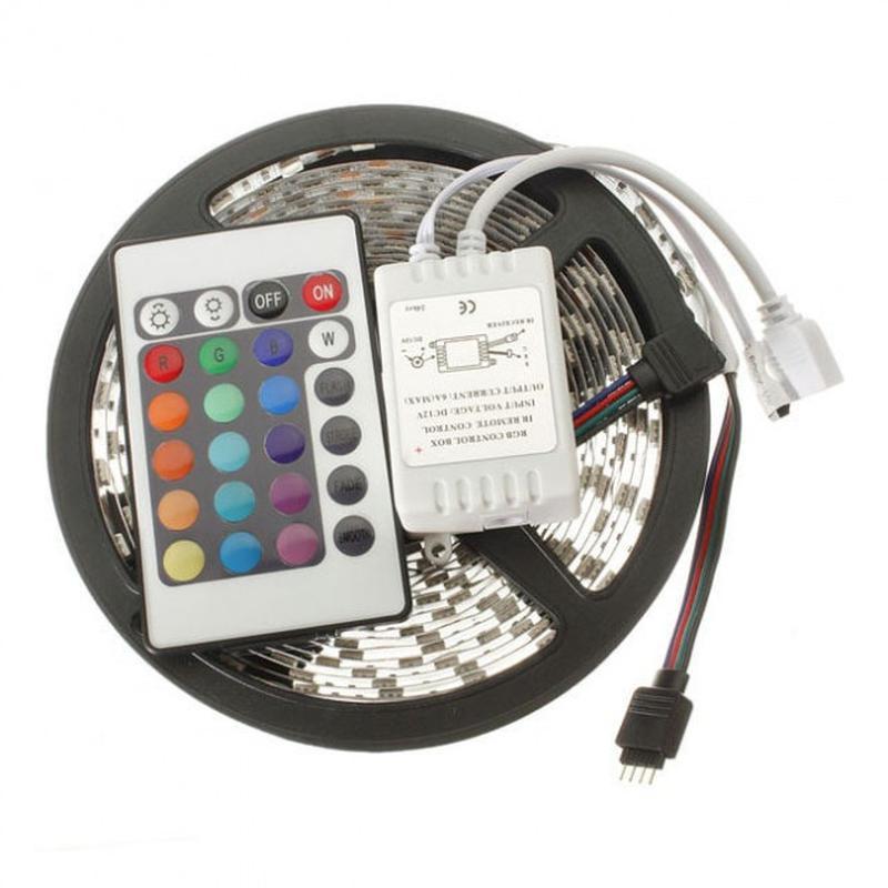 Светодиоидная RGB лента 2.5м управление пульт - Фото 3
