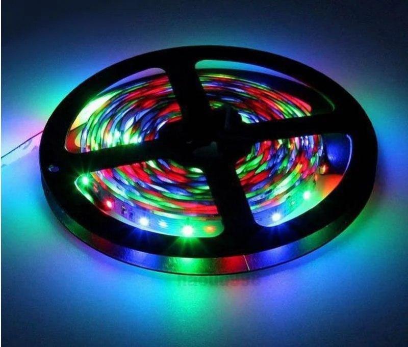 Светодиоидная RGB лента 2.5м управление пульт