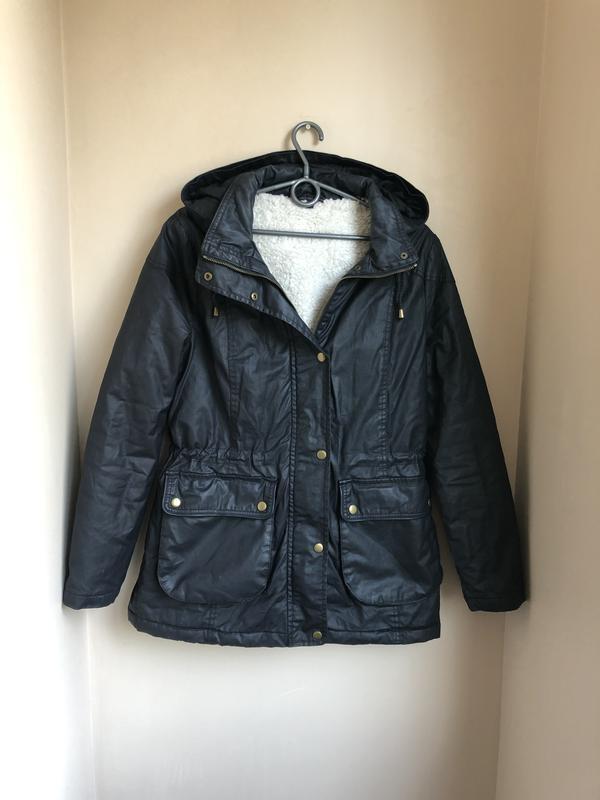 Парка утеплённая куртка l 40/42 темно-синяя