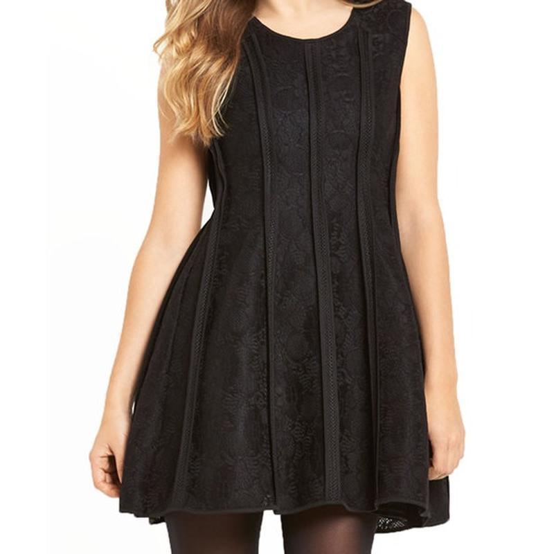 Брендовое черное кружевное нарядное короткое мини платье saman...