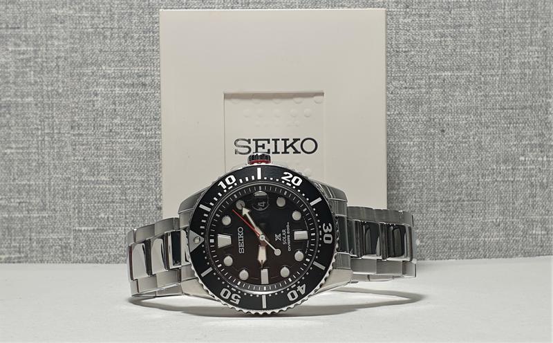 Мужские часы Seiko Prospex Solar Divers Black SNE437P1 как новые