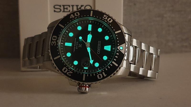 Мужские часы Seiko Prospex Solar Divers Black SNE437P1 как новые - Фото 2