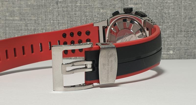 Мужские часы Seiko Sportura Chronograph Honda Racing SNA749 Sapph - Фото 2