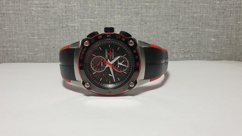 Мужские часы Seiko Sportura Chronograph Honda Racing SNA749 Sapph - Фото 5