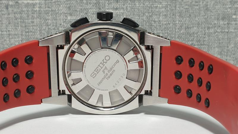 Мужские часы Seiko Sportura Chronograph Honda Racing SNA749 Sapph - Фото 8