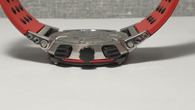 Мужские часы Seiko Sportura Chronograph Honda Racing SNA749 Sapph - Фото 9