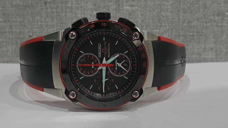 Мужские часы Seiko Sportura Chronograph Honda Racing SNA749 Sapph - Фото 10