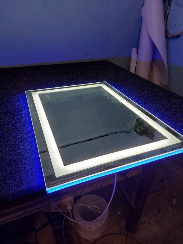 Зеркало с Лед подсветкой квадрат закругленный - Фото 5