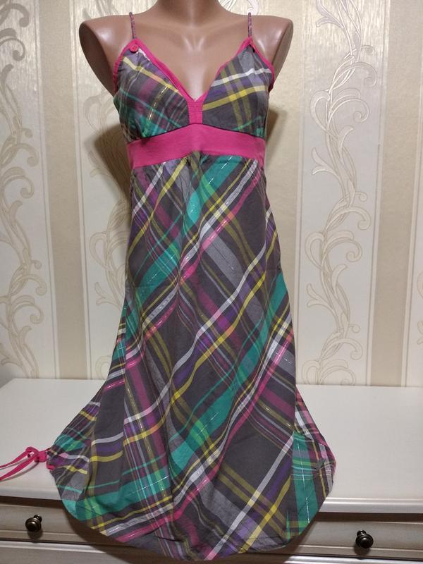 Платье , сарафан клетчатый
