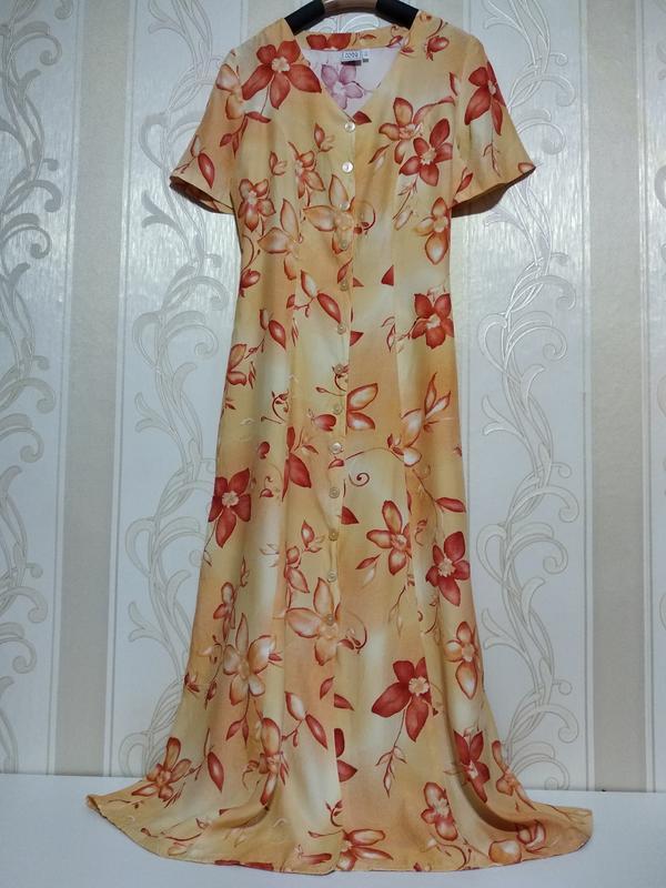 Длинное платье халат вискоза
