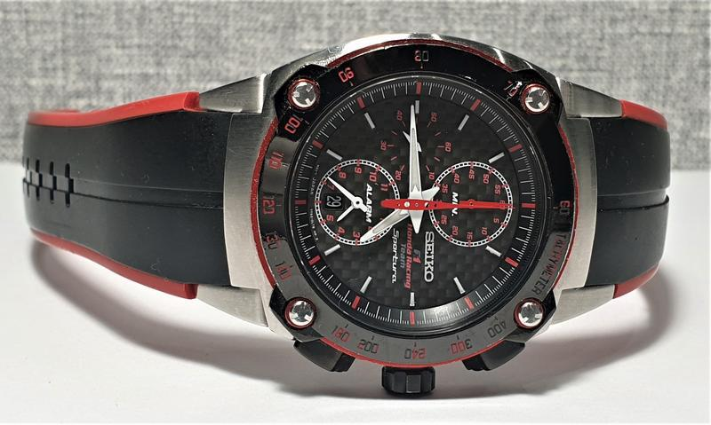 Мужские часы seiko sportura chronograph honda racing sna749 sa... - Фото 5
