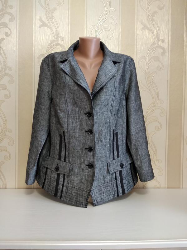 Пиджак, куртка , жакет , 100% лен.