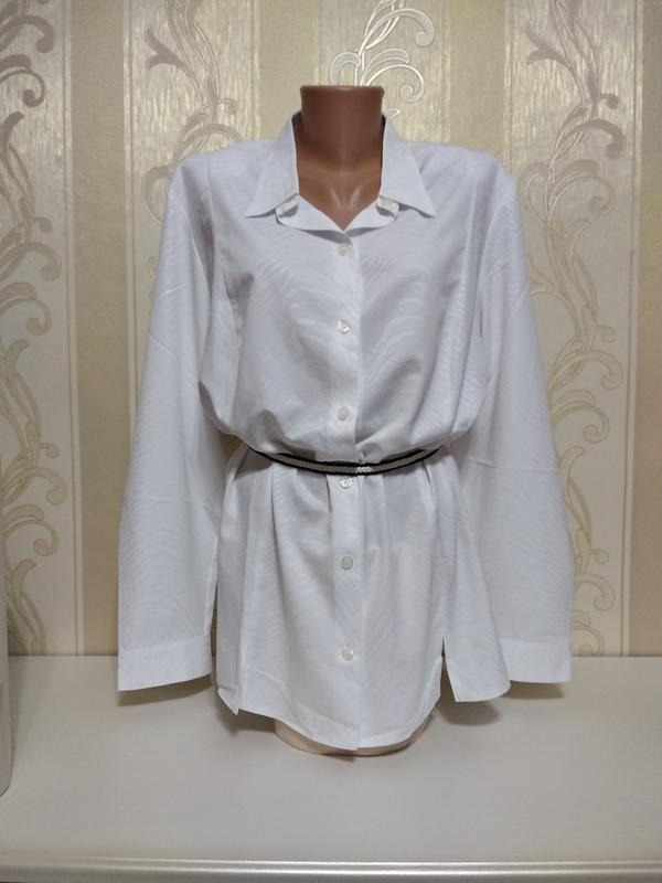 Белоснежная нарядная блуза, рубашка.