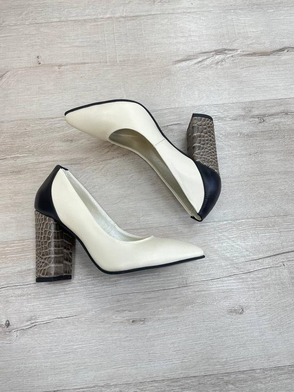 Туфли женские натуральная кожа италия - Фото 2