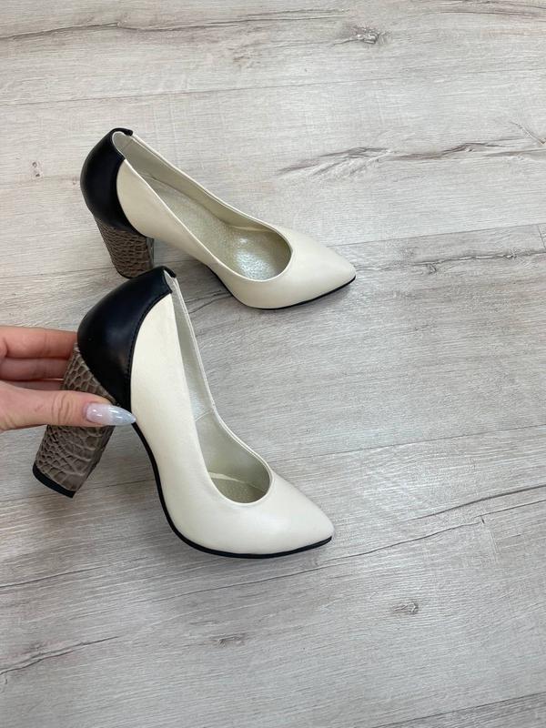 Туфли женские натуральная кожа италия - Фото 5