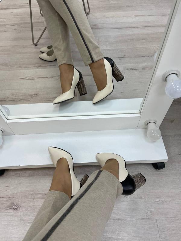 Туфли женские натуральная кожа италия - Фото 6