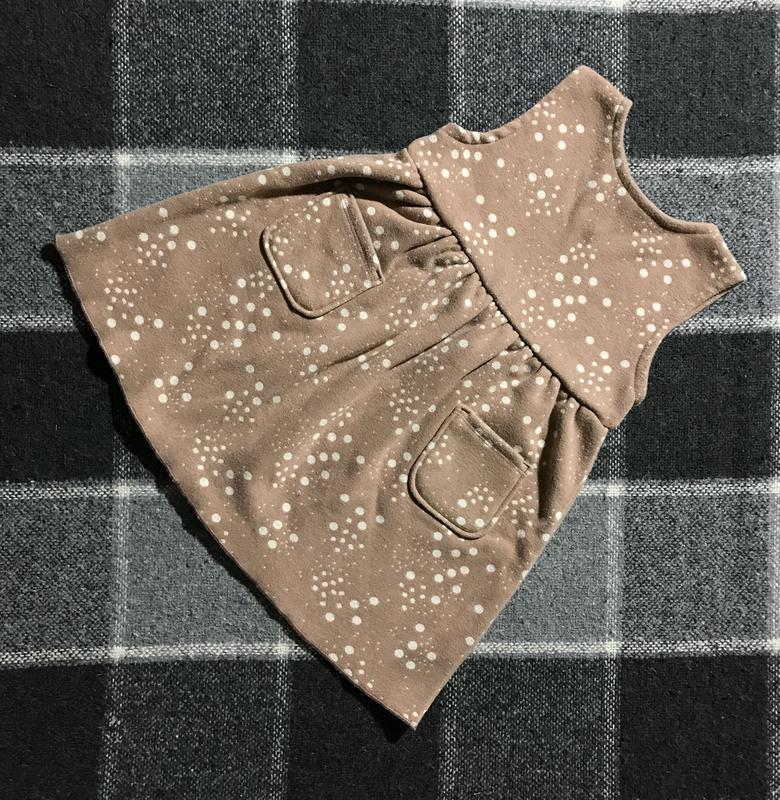 Детское теплое платье с рисунками zara ( зара 2-3 года 92-98 с...