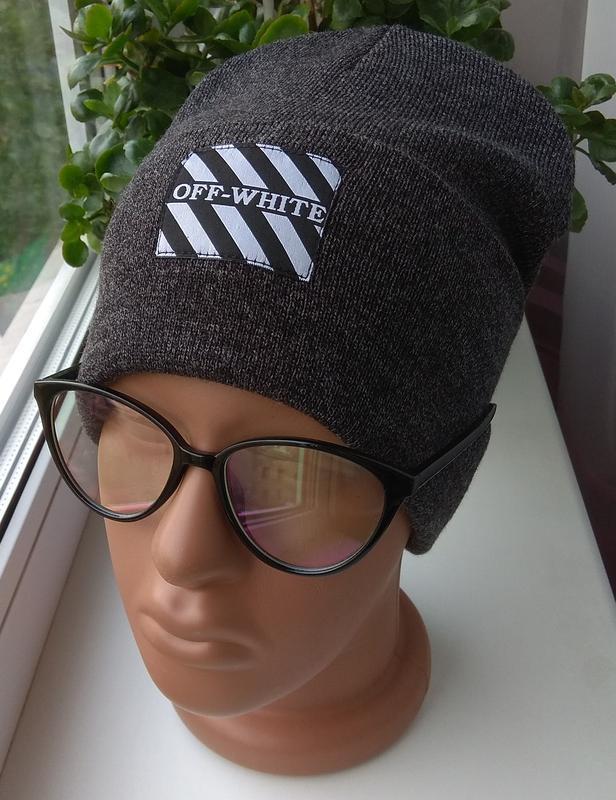 Новая модная шапка бини с нашивкой, темно-серая