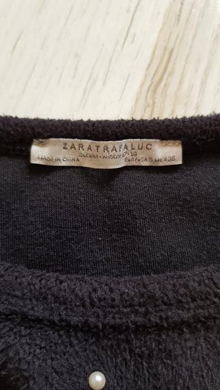 Мягкая кофта джемпер с жемчугом zara - Фото 8