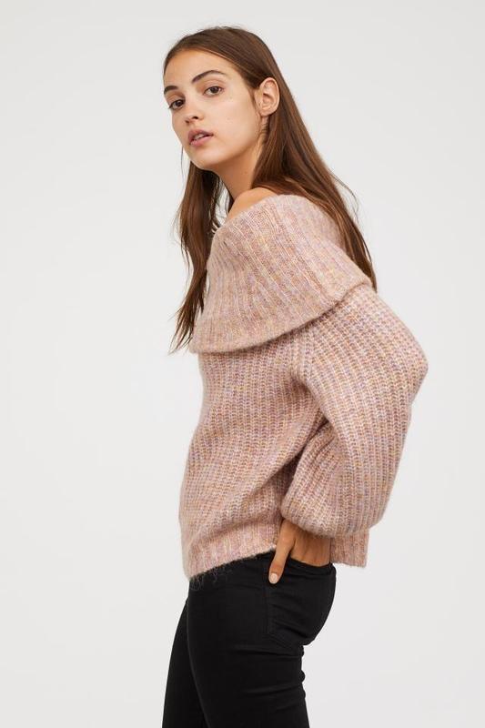 Большой выбор свитеров! превосходный свитер оверсайз на плечи h&m