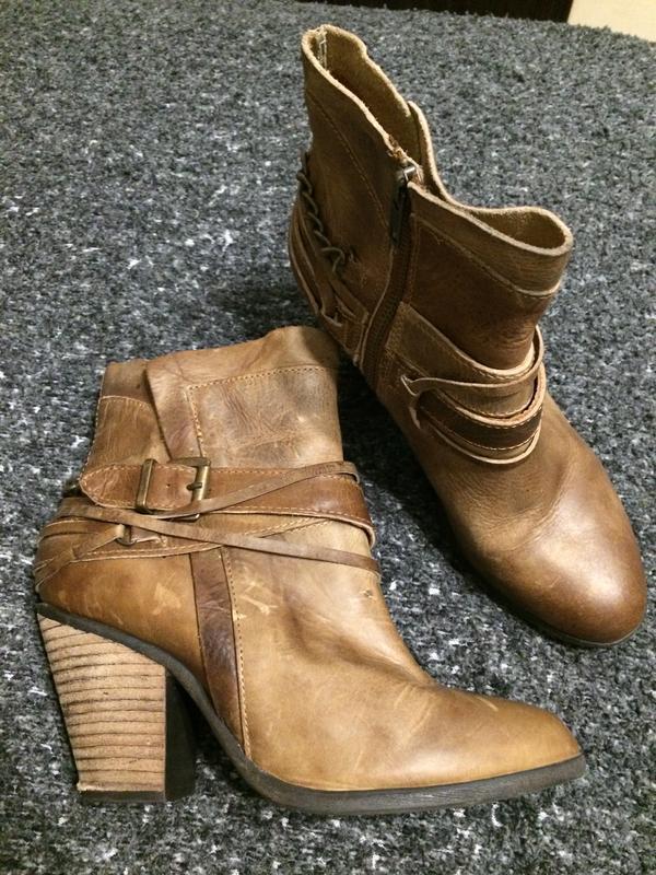 Steve madden кожаные ботильоны ботинки