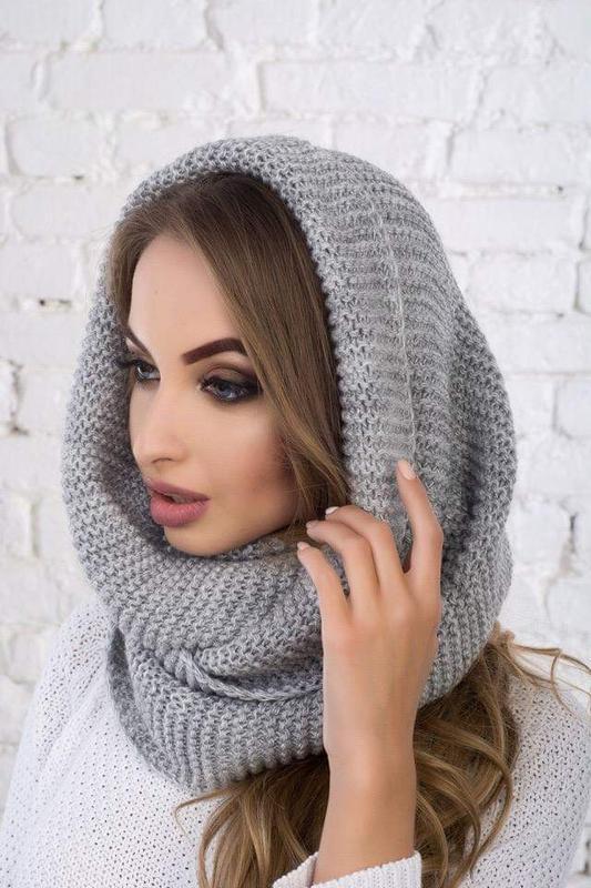 Новый модный хомут восьмерка, серый