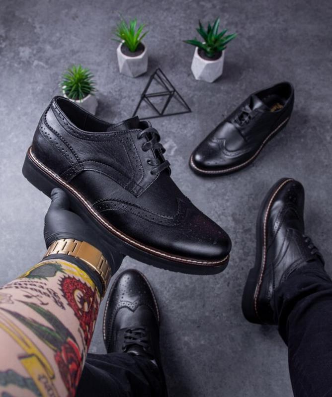 Мужские туфли кожаные. туфлі шкіряні