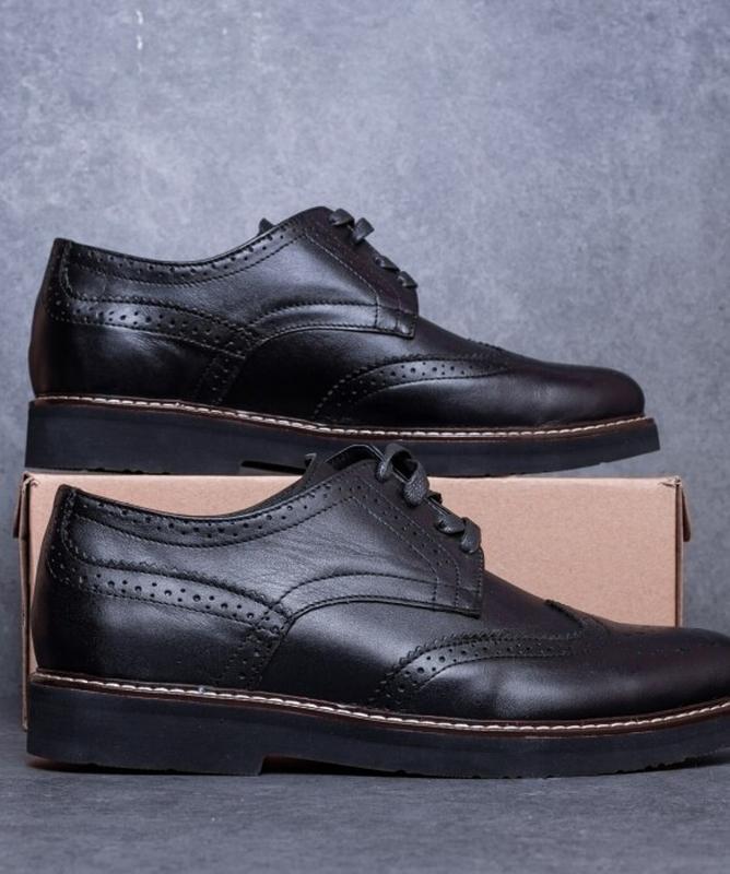 Мужские туфли кожаные. туфлі шкіряні - Фото 2