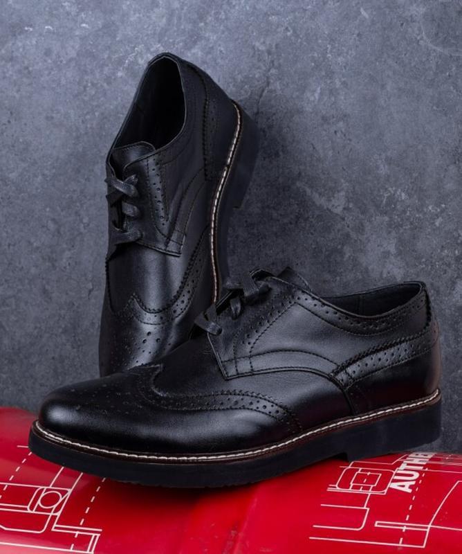Мужские туфли кожаные. туфлі шкіряні - Фото 3