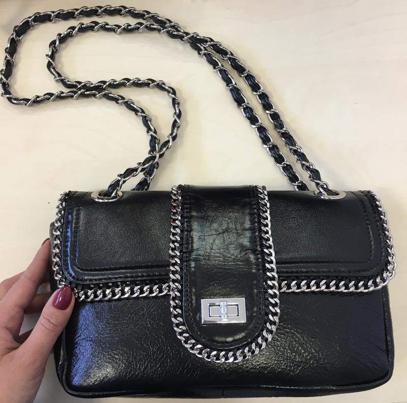 Стильная сумка сумочка натуральная кожа в стиле chanel